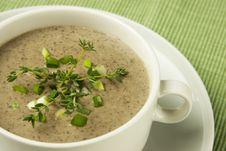 Free Mushrooms Cream Soup Stock Photo - 27253650