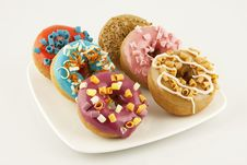 Free Asorti Donuts Royalty Free Stock Photo - 27254325
