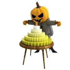 Free Isolated Pumpkin Witch With Cake And Candle Stock Photos - 27255283
