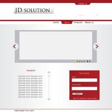 Free Company Web Layout Stock Images - 27256284