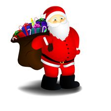 Free Santa With Bag Of Presents Stock Photos - 27257453