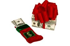 Free Two Ways To Give Money As A Christmas Present Royalty Free Stock Image - 27258406