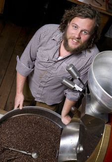 Free Master Roaster Smiles Cooling Coffee Product Stock Photo - 27258870