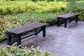 Free Benches In The Park Royalty Free Stock Photo - 27261695