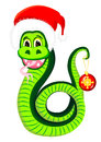 Free Snake In The Hat Of Santa Claus Royalty Free Stock Photos - 27263368