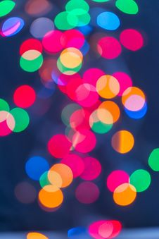 Free Multicolour Lights On Blue Background Royalty Free Stock Image - 27260676
