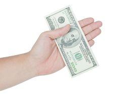 Free Hand Holding Money Dollars Stock Images - 27263184