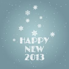 Minimal Happy New Year Background Royalty Free Stock Photo