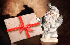 Free Santa Claus With Envelope Stock Image - 27263601