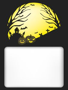 Free Halloween Holiday Templates Royalty Free Stock Photography - 27264647