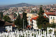 Free Panorama Of Sarajevo Old Town Royalty Free Stock Photography - 27265267