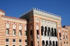 Sarajevo City-hall Royalty Free Stock Image