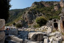 Free Lycian Tombs Stock Photography - 27265902