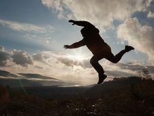 Free Silhouette Man Jumping Royalty Free Stock Image - 27268626