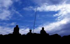 Free Fishermen Silhouette Stock Photos - 27269623