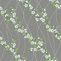 Free Vector Seamless Pattern With Sakura Branch Stock Images - 27279914