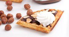 Chocolate Waffles Stock Photos