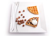 Chocolate Waffles Royalty Free Stock Images