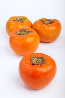 Free Persimmons Close Up, With White Background, Stock Image - 27278871
