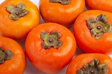 Free Persimmons Close Up, With White Background, Royalty Free Stock Image - 27278896