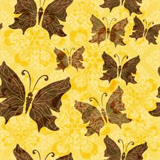 Free Yellow-brown Floral Pattern Stock Images - 27279874