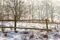 Free Winter Fence Royalty Free Stock Photos - 27280148