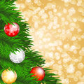 Free Christmas Tree And Baubles Royalty Free Stock Images - 27281189