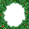Free Christmas Tree With Holly Berry Stock Photography - 27281212