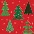 Free Christmas Tree Patchwork Fabric Royalty Free Stock Image - 27281226