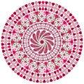 Free Valentine Round Frame Royalty Free Stock Photo - 27284935