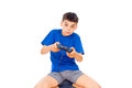 Free Boy Playing Computer Games Royalty Free Stock Image - 27286866