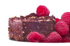 Free Raspberries And Cake Stock Image - 27280011