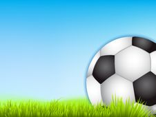 Free Foot Ball On Green Grass Stock Images - 27280494