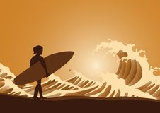 Free Surfer And Waves Royalty Free Stock Photography - 27281007