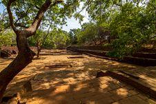 Free Gardens Of Sigiriya Lion S Rock Fortress Royalty Free Stock Image - 27281046
