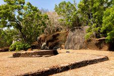 Free Gardens Of Sigiriya Lion S Rock Fortress Royalty Free Stock Image - 27281146