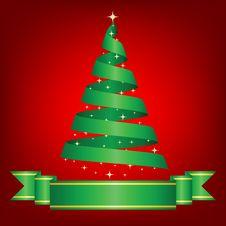 Tree And Ribbon Royalty Free Stock Image