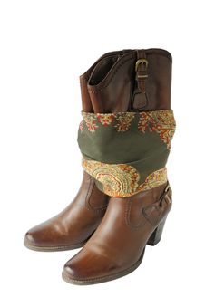 Free Women S Boots And Bandana Stock Images - 27281394