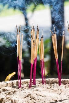 Free Joss Sticks Burning Stock Photos - 27284283