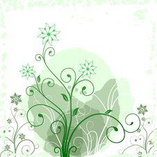 Free Grunge Flower Green Stock Image - 27284711