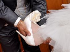 Free Father Helps The Bride. Royalty Free Stock Images - 27287689