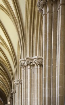 Free Archways In Wells Cathedral, Somerset Stock Images - 27287784