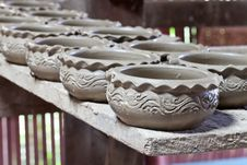 Large Group Of Clay Pots Spread Royalty Free Stock Images