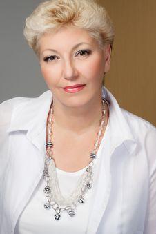 Elegant Senior With Jewelry Stock Images