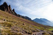 Free Mountains Landscape, Sunset In Corsica Royalty Free Stock Photos - 27289488