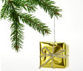 Free Christmas Gold Gift Royalty Free Stock Photo - 27297175