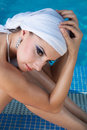 Free East Beauty In Pool Royalty Free Stock Photography - 27298797