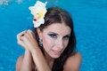 Free The Beautiful Girl In Pool Stock Image - 27298821