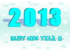 Free Happy New Year 2013 In 3D Stock Images - 27293654