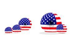 Free USA Fur Ball Flag Stock Photography - 27295092